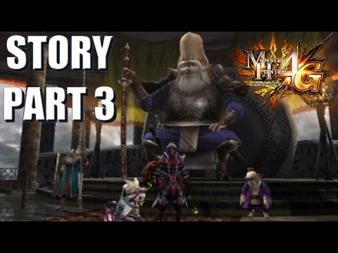 Let's Play Monster Hunter 4 Ultimate (4G) STORY 3 (translated): The Grand Elder and Guild HQ.