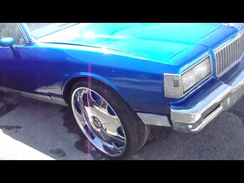 "CANDY BLUE BOX CHEVY ON DEM 26"" DUB RIMS!! FOOTTAAGGEE!!!"