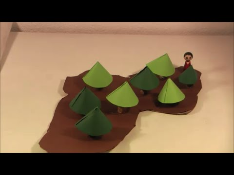 Rapunzel Das Märchen: Kulisse Requisite Basteln Teil 2: Wald Garten Figuren DIY