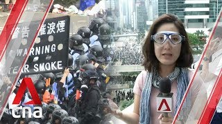 """Hong Kong protests: Police declare Wednesday clashes """"a riot"""""""