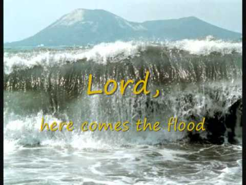 Peter Gabriel&Robert Fripp - Here comes the flood (with lyrics on screen)