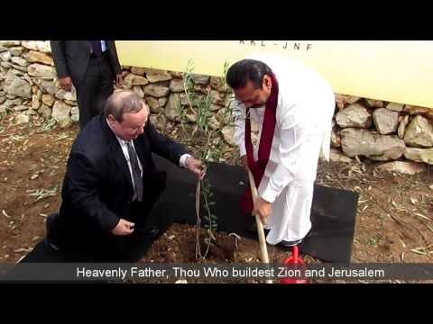 President of Sri Lanka Plants a Tree in Jerusalem