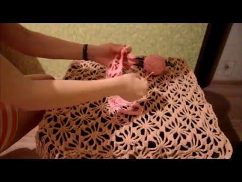 Видео мастер класс по вязанию крючком шали