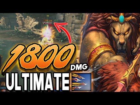 Smite: 1800 DAMAGE ANHUR ULT Build - You've Never Seen Damage Like This!