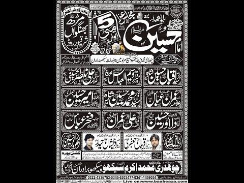 Live Majlis e Aza 5 May 2019 Imam Bargah Wali ul Asar as Marh Bhangwan Sharaqpur (www.baabeaza.com)