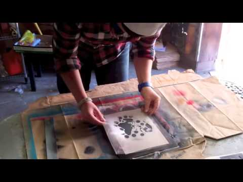 Spray Paint, Multi-Layer Stencil