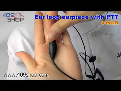 Ear loop earpiece with PTT for PUXING PX-A6 PX-2R NKT-R3 (4-002R)