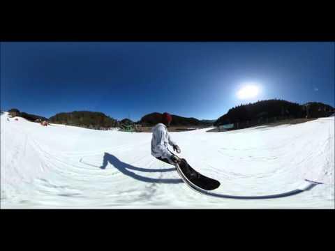 360°動画 スノーボード RICOH Theta S