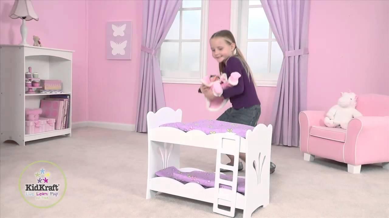 lit superpos lil 39 doll petite poup e pour poup e kidkraft youtube. Black Bedroom Furniture Sets. Home Design Ideas