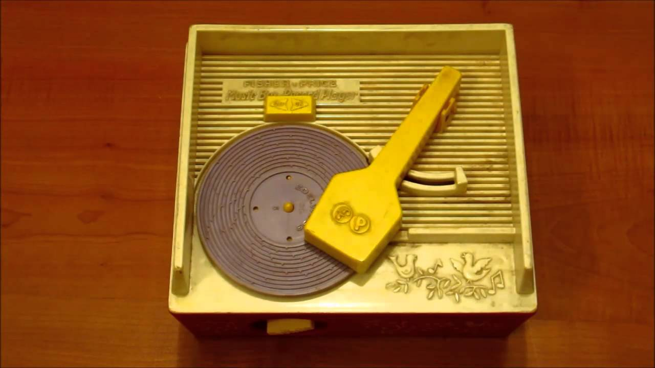 Vintage Fisher Price Toy Music Box Kids Record Player playing Edelwiess - YouTube
