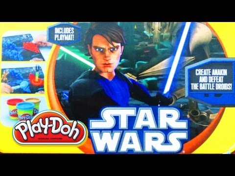 Play-Doh Star Wars The Clone Wars (Anakin w Battle Droids) Unboxing