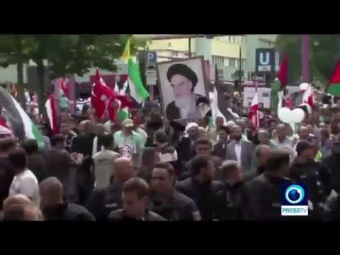 ISLAM in Germany Iranian International Quds Day against israel Breaking news July 2015