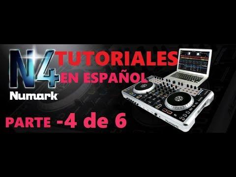 Tutorial manejo de un mixer y controlador Numark N4 parte 4-comienso desde cero para principiantes