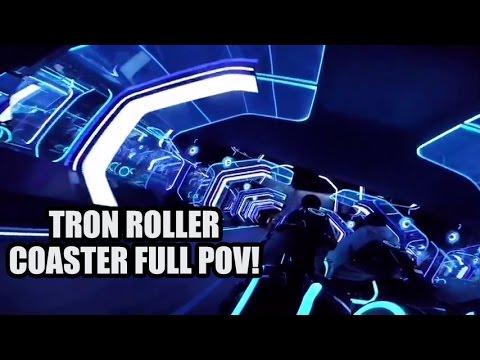 Tron Roller Coaster POV! Shanghai Disneyland - Tron Light Cycles Shanghai Disney Resort