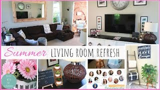 SUMMER LIVING ROOM REFRESH | IDEAS FOR HOME DECORATING ON A BUDGET | DIY | MODERN FARMHOUSE Decorate