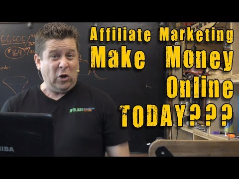 Make Money Online Today With Affiliate Marketing??? FULL Tutorial On How To Get Started RIGHT NOW!
