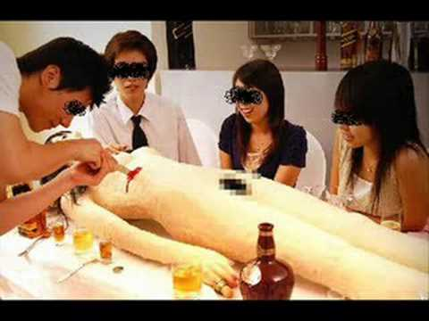 Cannibalistic Restaurant [JAPAN] : Confuse your inner psychopath by making a reservation at Cannibalistic Sushi Today! And Order an Edible Lifelike Body