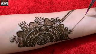 Step by Step Simple Beautiful Mehndi design for full hand | Henna mehendi designs