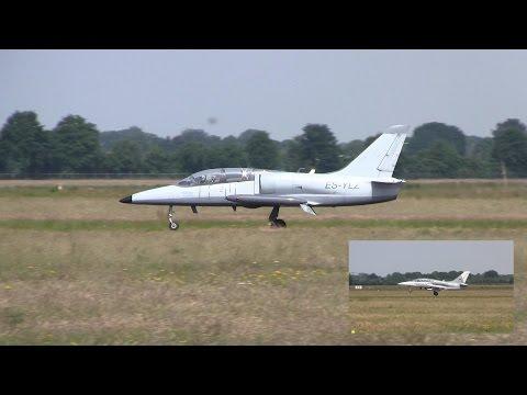 L-39 Albatros formation ► Landing ✈ Groningen Airport Eelde