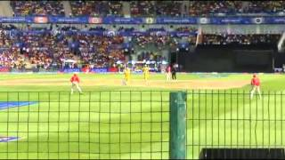 Dhoni boundary shots Highlights CSK vs KingsXI Punjab IPL 2014 Zayed cricket stadium