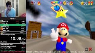 [Old WR] SM64 120 star speedrun in 1:40:10