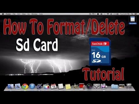 How To Erase SD Card On Mac Computer   Tutorial Format/Delete   Macbook Pro Air Mini iMac Pro