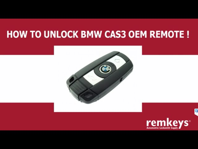 How to Unlock BMW Cas3 Remote Keys (PCF7945 & PCF7952 ...