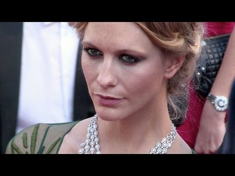 James Cook and British Socialite Poppy Delevingne on the red carpet of Carol in Cannes