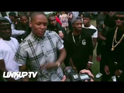 YG & Berner shoot All In A Day video backstage at Wireless Festival