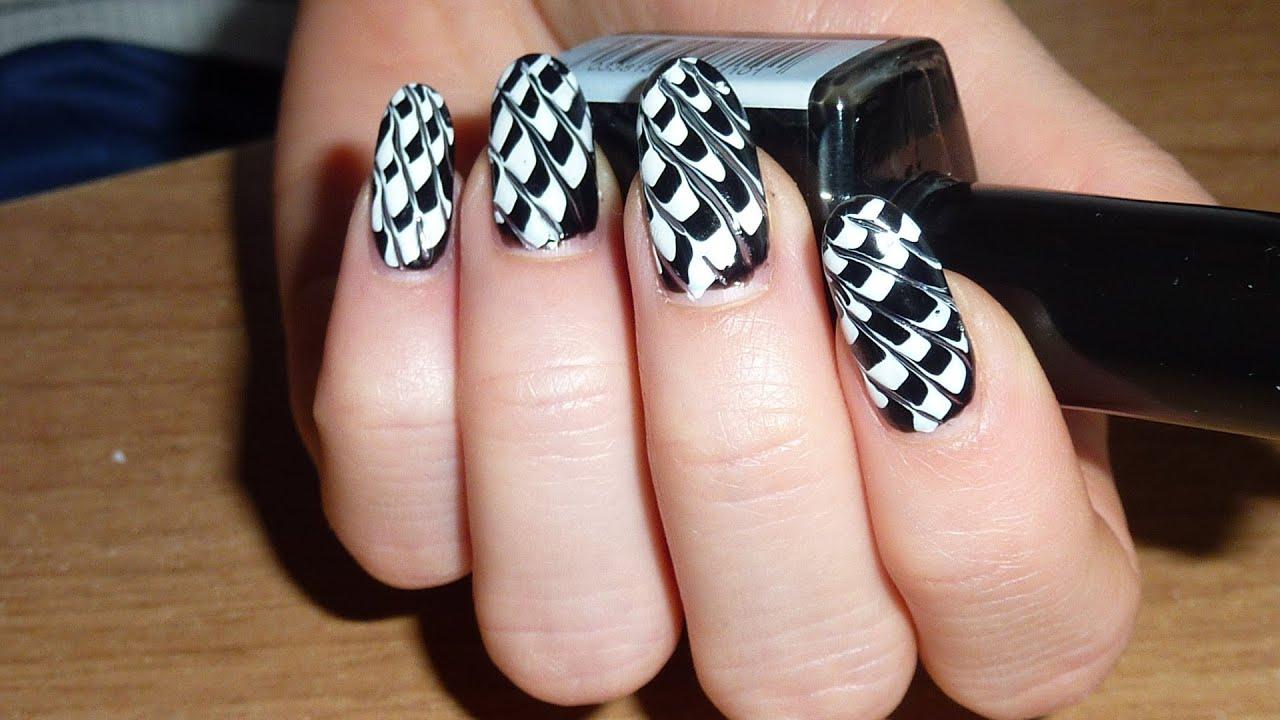 Nail Art Bianco e Nero / Black