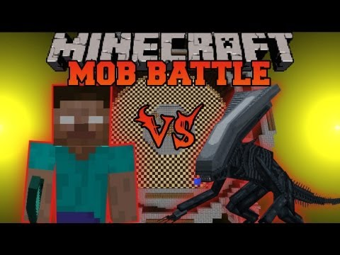 HEROBRINE VS. ALIEN - Minecraft Mob Battles - Arena Battle - OreSpawn Mod Battle