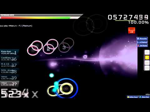 Osu! ~ rrtyui plays 44teru-k - F.I.[Platinum] + hidden