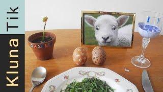 Special EASTER eggs for lunch! Kluna Tik Dinner #60 | ASMR eating sounds no talk
