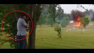 Pria ini hampir mati terkena ledakan setelah menembak sebuah kulkas bekas