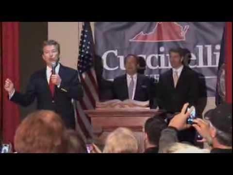 Rand Paul Rallies with Ken Cuccinelli