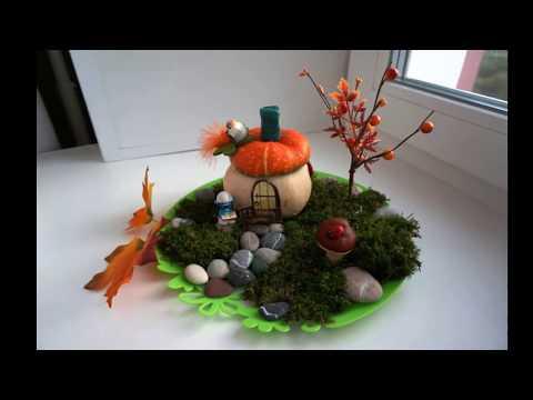 Поделки своими руками для сада осень из природного материала 534
