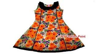 Kids Cotton Kolli Cut Designs Baby Dresses Cutting and Stitching | One cut Cutting Baby Frock