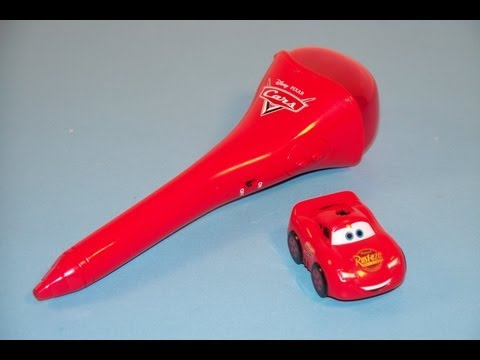 2006 DISNEY PIXAR CARS LIGHTNING McQUEEN R/C PEN KELLOGG'S CEREAL MAIL AWAY PROMOTION TOY REVIEW