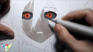 Copic speed draw Touka Kirishima from Tokyo Ghoul 霧嶋 董香