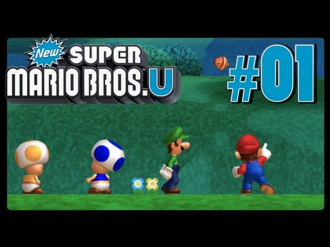 New Super Mario Bros. U - Part 1 - Acorn Plains (Co-Op)
