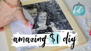 $1 WOOD PHOTO CANVAS!  (perfect Father's Day gift!)