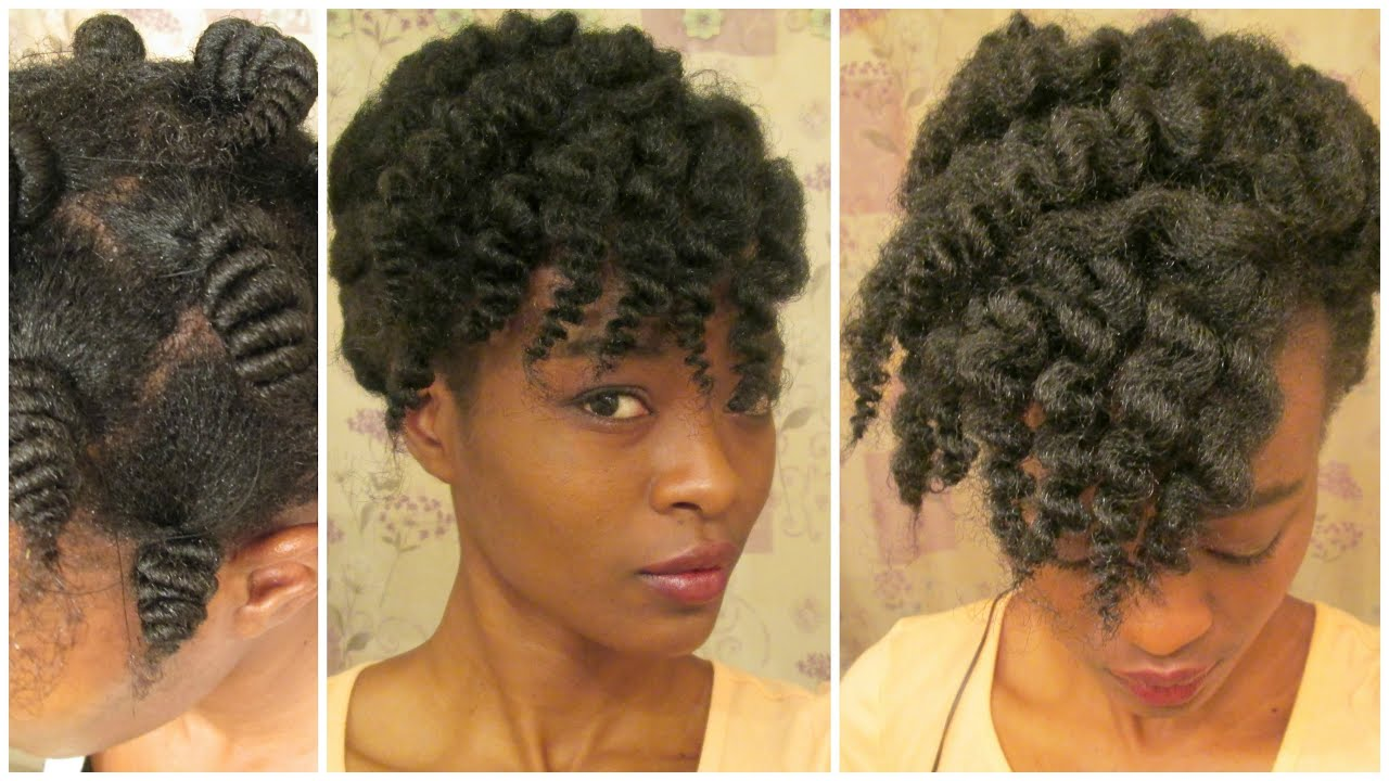 Corkscrew Thread Curls On Natural Hair With Entwine