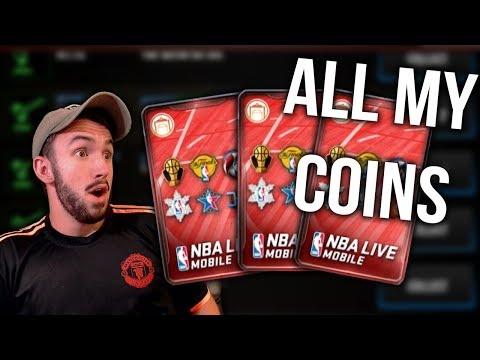 SPENDING ALL MY COINS ON CORNUCOPIA PACKS IN NBA LIVE MOBILE!! Ballin on a Budget