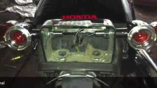Honda VT750 slasher rear turn signal removing