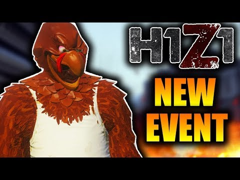 H1Z1 New Thanksgiving Turkey Hunt Event! Win a New EXCLUSIVE H1Z1 Skin! (New H1Z1 Gamemode)