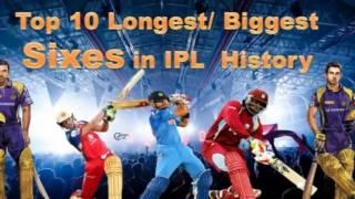 IPl Records |Longest six in ipl Cricket History |Top 10 biggest six | Biggest sixes Cricket
