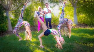 Professional Twin Gymnast Teach 6 Year Old Everleigh Insane Gymnastics!!!