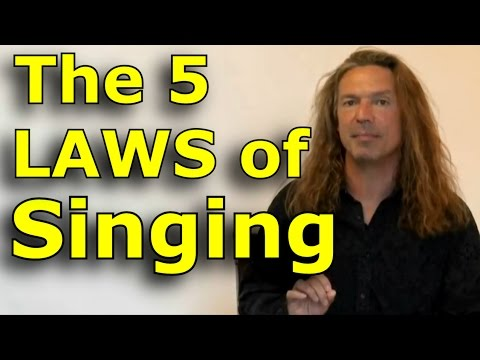 Singing Lessons For Beginners - The 5 Laws Of Singing - Learn Singing with Ken Tamplin