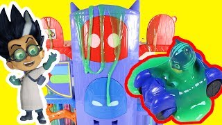 PJ Masks Night Time Romeo Slimes Catboy Owlette Headquarters Playset | Paw Patrol Toys