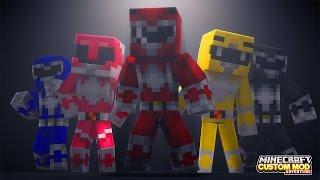 Minecraft - HOW TO BECOME A POWER RANGER - Custom Mod Adventure